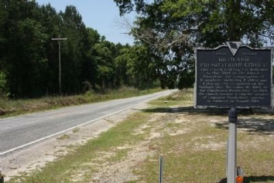 Richland Presbyterian Church Marker, looking west along Fork Church Road image. Click for full size.
