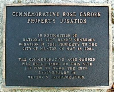 Commemorative Rose Garden Donation Marker image. Click for full size.