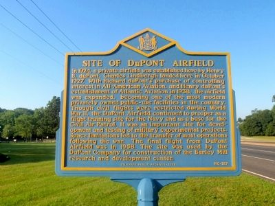 Site of DuPont Airfield Marker image. Click for full size.