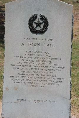 A Town Hall Marker image. Click for full size.