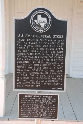 J.J. Josey General Store Marker image. Click for full size.