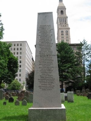In Memory of the First Settlers of Hartford Monument Photo, Click for full size