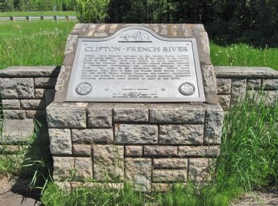 Clifton–French River Marker image. Click for full size.