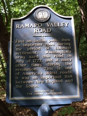 Ramapo Valley Road Marker image. Click for full size.