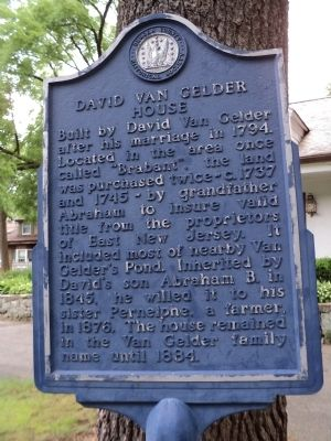 David Van Gelder House Marker image. Click for full size.