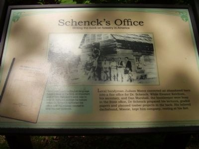 Schenck's Office Marker image. Click for full size.