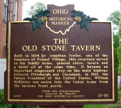 The Old Stone Tavern Marker image. Click for full size.