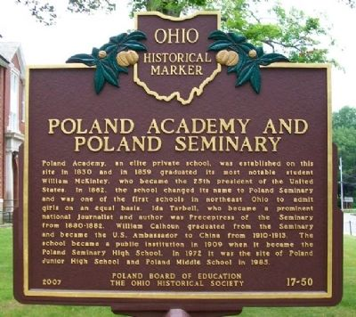 Poland Academy and Poland Seminary Marker image. Click for full size.