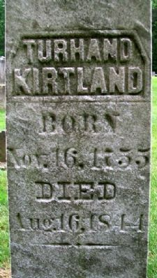 Judge Turhand Kirtland Grave Marker image. Click for full size.