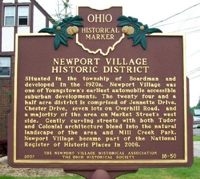 Newport Village Historic District Marker image. Click for full size.