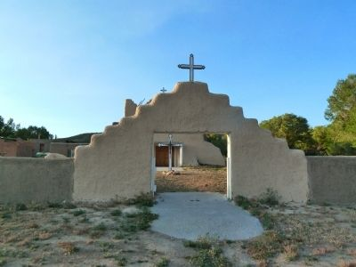 Pueblo of Picuris Church, entry to church yard image. Click for full size.