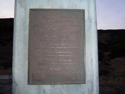 Embudo Stream Gaging Station Marker, Centenary Plaque image. Click for full size.