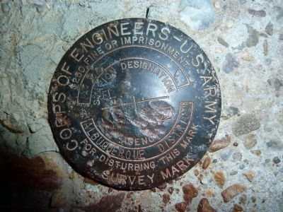 Embudo Stream Gaging Station Army Corps of Engineers Survey Marker image. Click for full size.