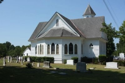 Target Methodist Church and adjacent cemetery image. Click for full size.