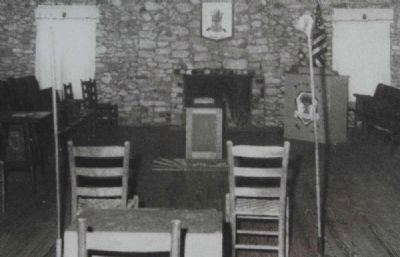 The Donalds Grange No. 497 Marker<br>Interior of Grange Photo, Click for full size