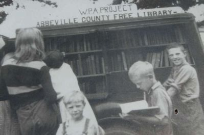 The Donalds Grange No. 497 Marker<br>Abbeville County Bookmobile and Its Young Clients Photo, Click for full size