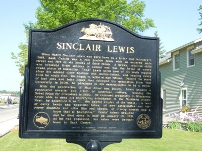 Sinclair Lewis Marker image. Click for full size.