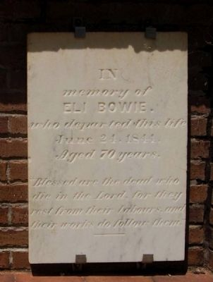Eli Bowie Tombstone image. Click for full size.