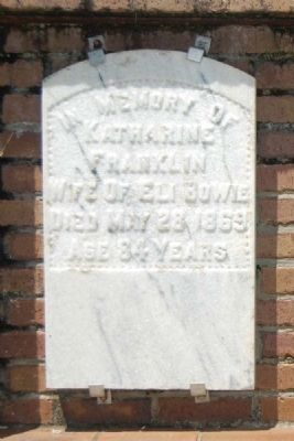 Katherine Franklin Tombstone image. Click for full size.