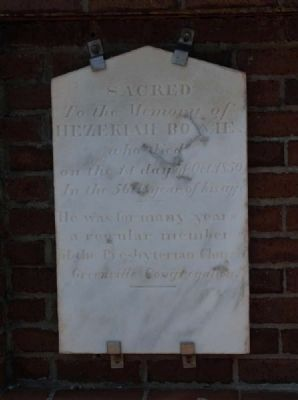Hezekiah Bowie Tombstone<br>Eli Bowie&#39;s Second Son image. Click for full size.