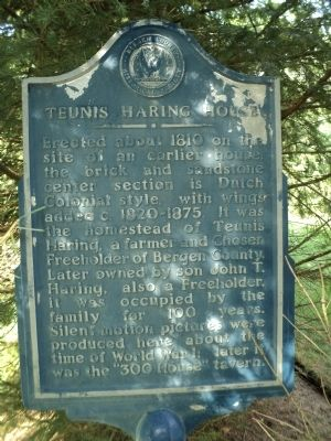 Teunis Haring House Marker image. Click for full size.