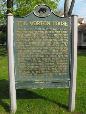 The Morton House Marker Photo, Click for full size