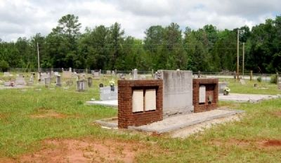 Bowie Marker<br>Gilgal Church Cemetery in Background image. Click for full size.