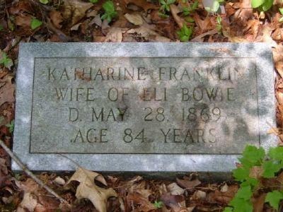Katherine Franklin Tombstone<br>Old Bowie Cemetery image. Click for full size.