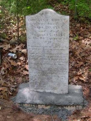 Thomas C Botts Tombstone<br>Old Bowie Cemetery image. Click for full size.