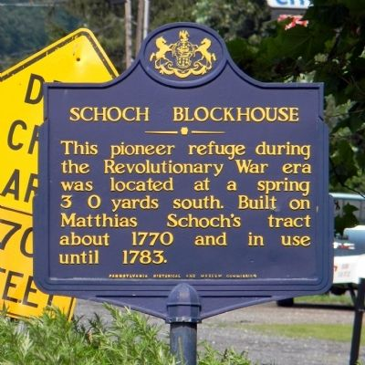 Schoch Blockhouse Marker image. Click for full size.