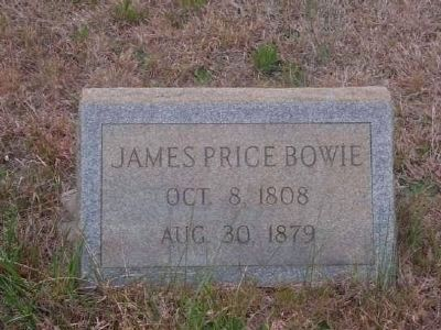 James Price Bowie Tombstone<br>Gilgal Church Cemetery<br>Eli Bowie&#39;s First Son image. Click for full size.