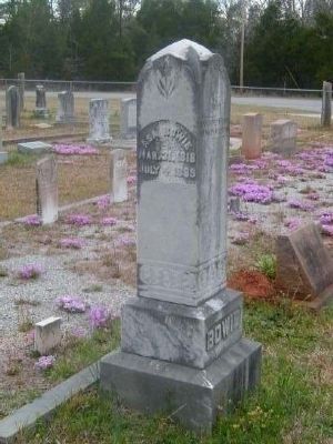 Asa Bowie Tombstone<br>Gilgal Church Cemetery<br>Eli Bowie&#39;s Fourth Son image. Click for full size.