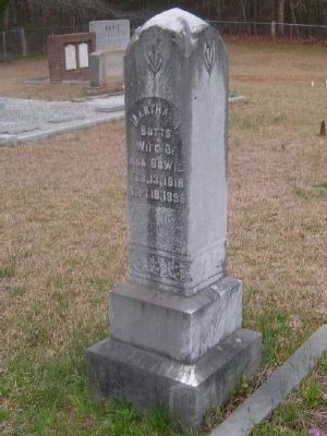 Martha A Botts Tombstone<br>Gilgal Church Cemetery image. Click for full size.