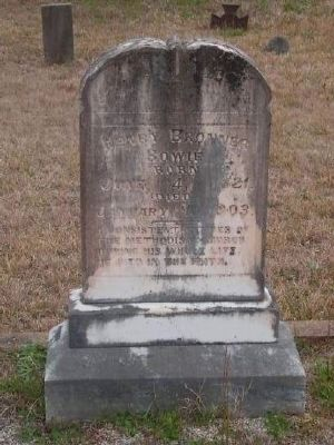 Henry Browner Bowie Tombstone<br>Gilgal Church Cemetery<br>Eli Bowie&#39;s Fifth Son image. Click for full size.