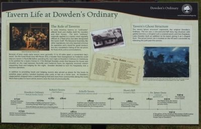 Tavern Life at Dowden's Ordinary Marker image. Click for full size.