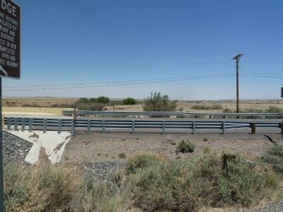 Rio Puerco Bridge Marker - view north image. Click for full size.