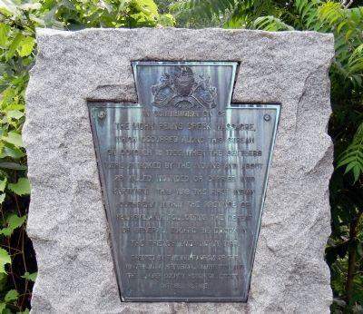 Detail of the Penns Creek Massacre Plaque Photo, Click for full size