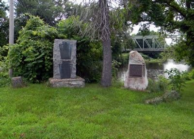 Wide view of the Penns Creek Massacre Plaque Photo, Click for full size