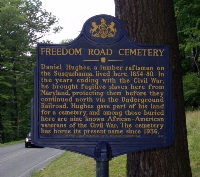 Freedom Road Cemetery Marker image. Click for full size.
