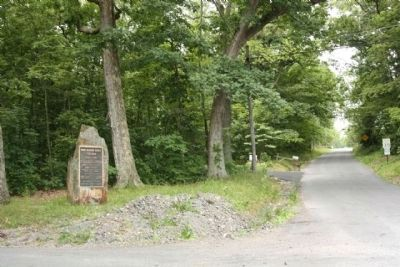 "John Hanson ""Hance"" Steelman Marker looking southwest along Steelman Marker Road image. Click for full size."