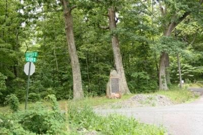 "John Hanson ""Hance"" Steelman Marker, at the intersection of Topper and Crum roads image. Click for full size."