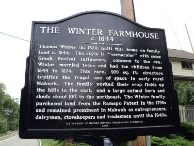 The Winter Farmhouse Marker image. Click for full size.