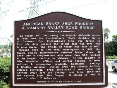 American Brake Shoe Foundry Marker Photo, Click for full size