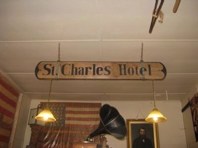 St. Charles Hotel Sign image. Click for full size.