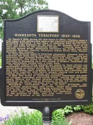 Minnesota Territory 1849 – 1858 Marker Photo, Click for full size