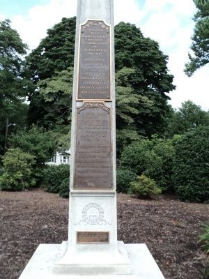 Allendale Veterans Monument Markers image. Click for full size.