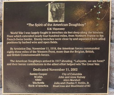 """The Spirit of the American Doughboy "" Marker image. Click for full size."