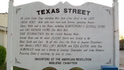 Texas Street Marker image. Click for full size.