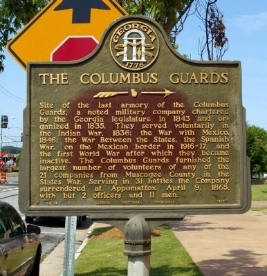 The Columbus Guards Marker image. Click for full size.