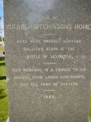 Site of Israel Hutchinson's Home Marker Photo, Click for full size